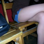 Friends enjoy taking pictures of my legs under the table... I have nothing against that :)