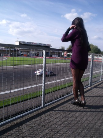First I went to check some local tiny-car race.